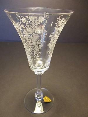 Tiffin CORDELIA Pattern Water Goblet(s) With ORIGINAL LABEL
