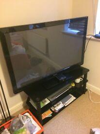 52 inch Panasonic TV and stand