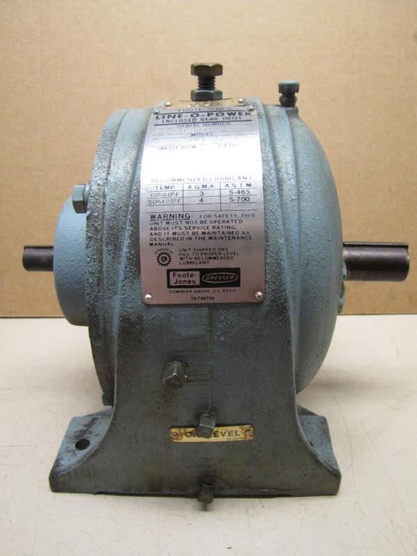 FOOTE-JONES DRESSOR GEAR DRIVE 720YSL 9.3:1 RATIO 3.30 HP NEW