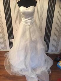 Wedding dress two parts white floaty skirt size 12