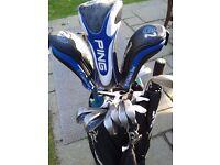 Ping G2 Golf Clubs & Ping Tour Bag.