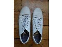 White Leather Casual Shoes