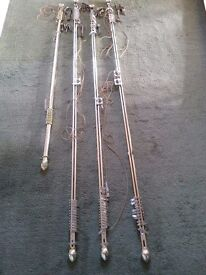 Curtain Poles - Corded - Brass