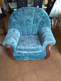 Patterned Armchair in good condition
