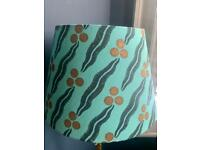 POOKY TURQUOISE LAMPSHADE