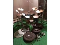 A great Mapex drum kit with Sabian symbols