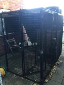 Large metal 8x8 cattery pen
