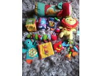 Baby sensory toy bundle including Fisher Price and ELC