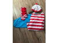 Where's wally ladies fancy dress costume outfit