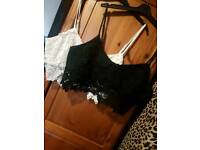 Newlook Cameo Rose Bralet Tops Size 16