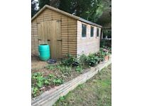 Garden shed 3m x 3.6m