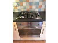 Electric fan oven and gas hob combo