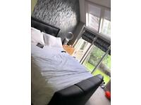 Leather Upholstered TV Bed, King size, Underbed storage——-£500 ONO