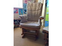 Tutti Bambini Glider Nursing Chair with gliding footstool - Used, but v good condition