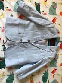 Monsoon pale blue linen boy's suit age 3.