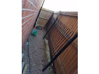 Large heavy metal double fence