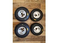 Almost NEW Minimax Silver Jet Rims (like New) with 39 lap used Mojo WETS in tyre bag (A)