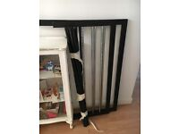 Black Double Bed Frame & Mattress