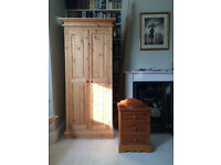Pine Wardrobe and chest