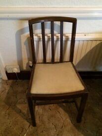 Barley twist leg table and three chairs