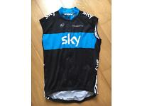 Team Sky men's cycling windvest / cyclist gilet - size 5 (XL)