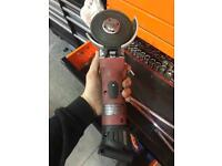 Snap on battery angle grinder