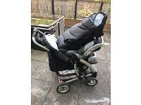 Pushchair car seat and carry basket 3 in 1 FREE