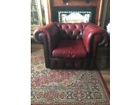 Vintage chesterfield chair oxblood