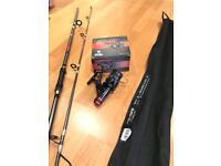 8ft Fishing Rod, reel, bag