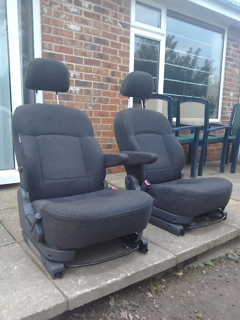 Van captain chair - Black Camper Van Swivel Captain Seats Vw T4 T5 Transit Sprinter Base Turns 180 Motorhome