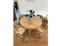 Pine Table and 4x Chairs