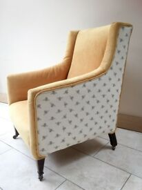 Bespoke re-upholstered wingback chair / armchair