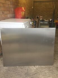 Stainless steel splashback W1000 x H750mm VGC Now too wide for my new cooker