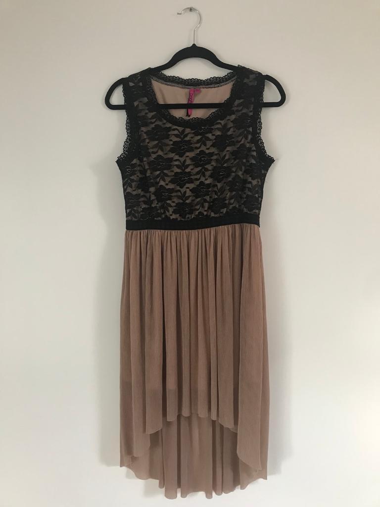 Black Lace Dress with Flowy Bottom Half