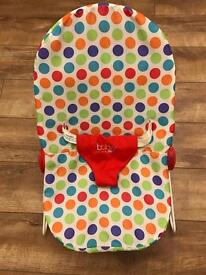 Multicoloured red spot chad valley baby bouncer
