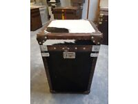 Leather cow skin storage trunk