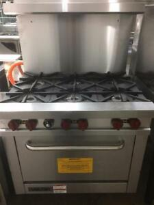Restaurant Equipment Super Sale - Vulcan 6 Burner Range Brand New From Haymach Canada