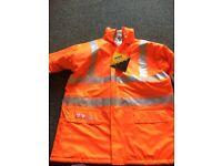 Flame retardant, anti static heavy duty rain jacket