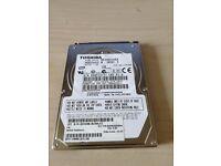"""TOSHIBA MK2552GSX 250GB 2.5"""" LAPTOP SATA HARD DRIVE"""