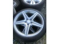 MERCEDES C CLASS AMG ALLOY WHEELS AND TYRES GENUINE