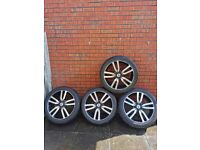 """Genuine 20"""" land rover discovery 4 landmark metropolis alloy wheels and tyres"""