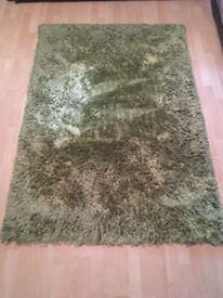 Carpet / Rug - Green approx. 170cm x 140cm