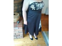 Elegant evening gown size 18 chocolate brown