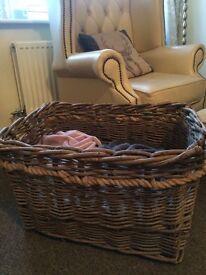 Large, wicker basket