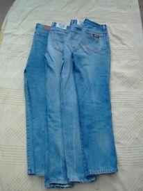 "4 Pairs Vintage Mens Jeans. 30""/32"" Waist. 30""/32"" Leg"