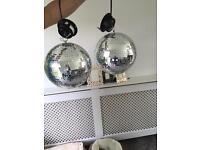 2 SoundLAB Disco Mirrored Light Balls