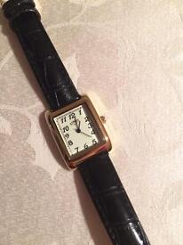 Limit Ladies' Gold Plated Rectangular Glow Dial Watch - Like New