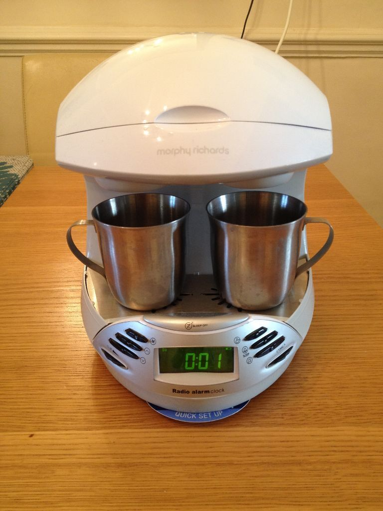 Morphy Richards Radio Alarm Clock Teasmade Tea Coffee