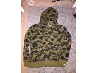Bape hoodie brand new size large