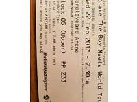 Drake tickets The Boy Meets World Tour 22 Wed Feb x2 tickets